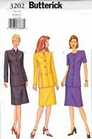 Butterick Sewing Pattern 3202 Misses jacket Skirt Size 8-12 Uncut