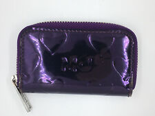 Marc by Marc Jacobs MBMJ Mirrored Metallic Heart Coin Change Purse Wallet Purple