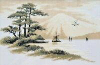 Counted Cross Stitch Kit Fujiyama Mount DIY Embroidery KIT Japanese Landscape