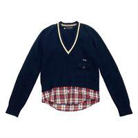 Dsquared2 Women's V Neck Wool Jumper   Vintage High End Designer Sweater VTG