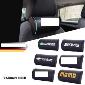 Chevrolet 2x carbon fiber car seat backrest seat headrest neck pillow GMC NEW