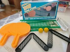 Vintage Nerf Ping Pong Table Tennis Set by Parker Brothers Toy 1982
