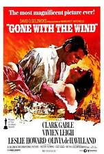 GONE WITH THE WIND Movie POSTER B 27x40 Clark Gable Vivien Leigh
