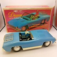 Topper Toys Dawn & Her Action Car Blue 1970 Convertible Car and Box Only TESTED