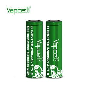 2X Vapcell ® 21700 4200MAH INR21700 Molicel P42A 30A 3.7v High Drain Genuine UK