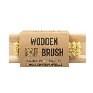 Nail Brush Eco-Friendly Natural Bamboo Double Sided Scrubbing Fingernail Brush