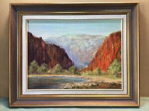 Joan Ricketts Ormiston Gorge Circa 1964 Framed Oil Painting