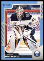 2020-21 UD O-Pee-Chee Blue Border #99 Carter Hutton - Buffalo Sabres