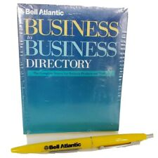 NEW Vintage Bell Atlantic Notepad & Advertising Yellow Pages Bic Pen Scratch