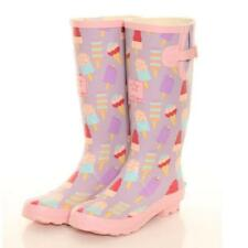 Ladies Girls Festival Fashion Funky Wellies Wellington Boots Sizes 4-8