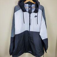 Nike Loose Fit Windbreaker Hooded Full Zip Front Men's Size XXL NWT