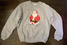 VTG Ugly Tacky Holiday Xmas Christmas Party Sweater Pullover Santa L Or XL