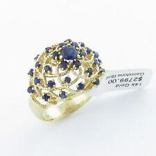 NYJEWEL Brand New 14k Gold Fabulous 1.75ct Sapphire Huge Ring $2399 Great Gift !