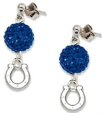 Indianapolis Colts Bling Earrings Jewelry Crystal Jewelry