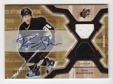 2006-07 NHL SPx # 178 Ryan Shannon RC SP # /1299 Jersey Autograph Rookie Card