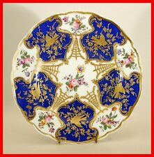 Chelsea Gold Anchor Marked Porcelain Plate With Stilt Marks! Exceptional!