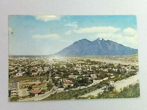 Vintage Postcard View of Monterrey N.L. Mexico Town Scene