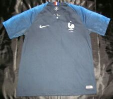 France 2018 World Cup Nike Navy Road Jersey FFF Men M
