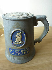 Rare Whitbread Pub Tankard Beer Drink Pump Home Bar Antique Breweriana Used