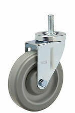"Threaded Stem Caster: 5/8-11x1-3/4. Polyurethane Wheel: 5"" x 1-1/4"". Bearing."