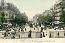 Carte PARIS La rue Royale Vue prise de la Madeleine