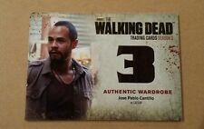 The Walking Dead Season 3 Part 2 Authentic Wardrobe Card M48 Cantillo / Ceasar