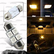 31MM AMBER Festoon 4-SMD Interior LED Dome Map Light DE3021/3022/3175 For HONDA