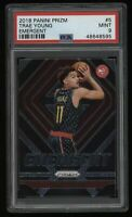 2018-19 Trae Young PSA 9 Panini Prizm Emergent Rookie Rc #5 Invest Card Hawks