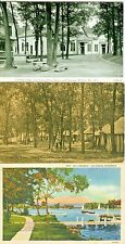 Lake Geneva WI Collectors set of 3, Dining Hall, Under the Trees & Williams Bay