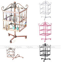 96 Holes Metal Ear Stud Earring Jewelry Display Stand Holder Show Rack Organizer