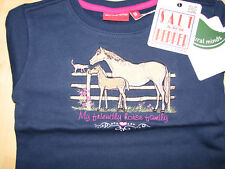 Salt and Pepper Pullover Gr 92/98 blau mit Pferden und Fohlen neu mit Etikett