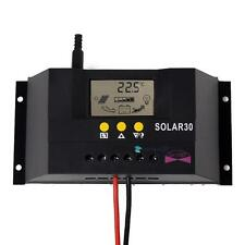 LCD 30A 12V/24V Solar Panel Controller Regulator Charge Battery Safe ProtectionD