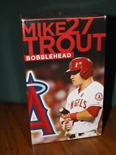 "MIKE TROUT BOBBLEHEAD, APRIL 1, 2014 SGA, ""THE CYCLE"" COMMEMORATION, NEW IN BOX"