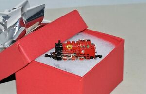 Z Scale Marklin Christmas BR 89 5 pole Red Steam Locomotive - Custom 3D Decals