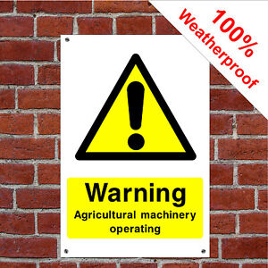 Warning agriculture machinery operating sign or self adhesive vinyl sticker CO26