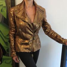 Python leather Alexander McQueen Python Jacket new