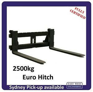EURO QUICK HITCH PALLET FORKS for tractor Fully Certified 2500kg WLL