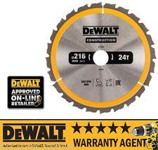 DeWalt DT1952 QZ 216 x 30mm Construction Circular Saw Blade 24T