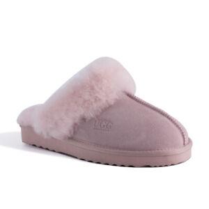 AUS WOOLI UGG Water-Resistant Unisex Genuine Australian Sheepskin Wool Slippers