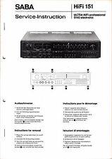 Service Manual-Anleitung für Saba Ultra HiFi professional 9140