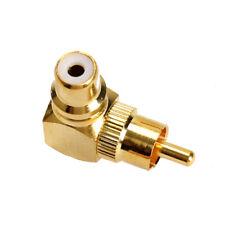 Metal Winkeladapter 90 Grad Winkel RCA Chinch Stecker Adapter Cinchwinkelstecker