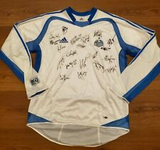 Adidas Kansas City Wizards Vtg MLS soccer jersey team signed long sleeve mens...