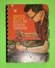 Speer 6th Edition Reloading Manual