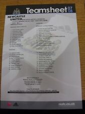 29/07/2007 Colour Teamsheet: Newcastle United v Juventus [Friendly] (folded). Th