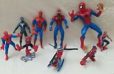 Lot of 9 Spider-Man Marvel Universe  Action Figures & Helicopter
