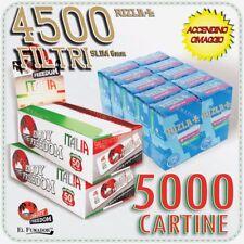 4500 Filtri RIZLA SLIM 6mm + 5000 Cartine ENJOY FREEDOM ITALIA CORTE BIANCHE