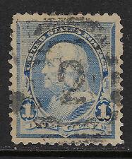 SCOTT 219 1890 1 CENT FRANKLIN REGULAR ISSUE USED VF!