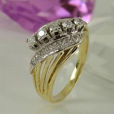 Ring in 585/- Gelb/Weißgold mit 19 Diamanten ca 0,55 ct Wesselton P1 Gr. 60