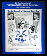 Boeing Boeing-1965 Tony Curtis, Jerry Lewis Movie Pressbook-ads, poster photos