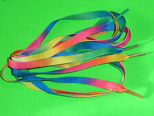 SHOELACES 120CM RAINBOW FLAT LACES *IN AUSTRALIA * SHOE LACES